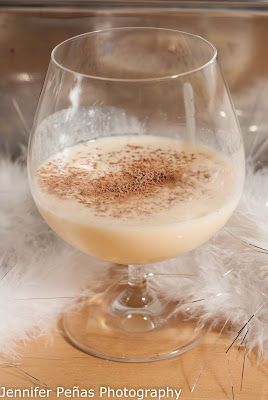 white christmas, christmas cocktail, eggnog, Godiva white chocolate liqueur, southern comfort