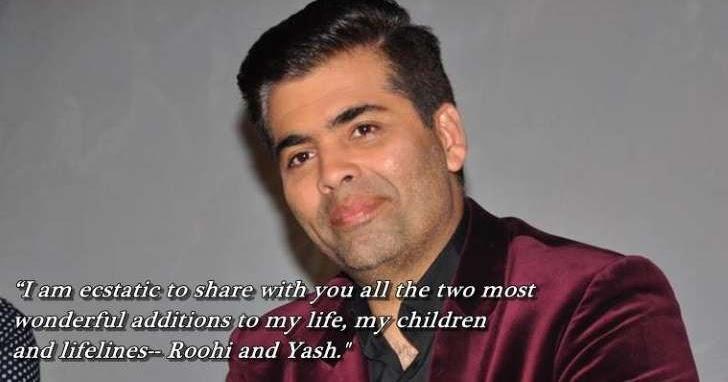 Bollywood star kids karan johar confirms birth of his for Roohi bano husband name