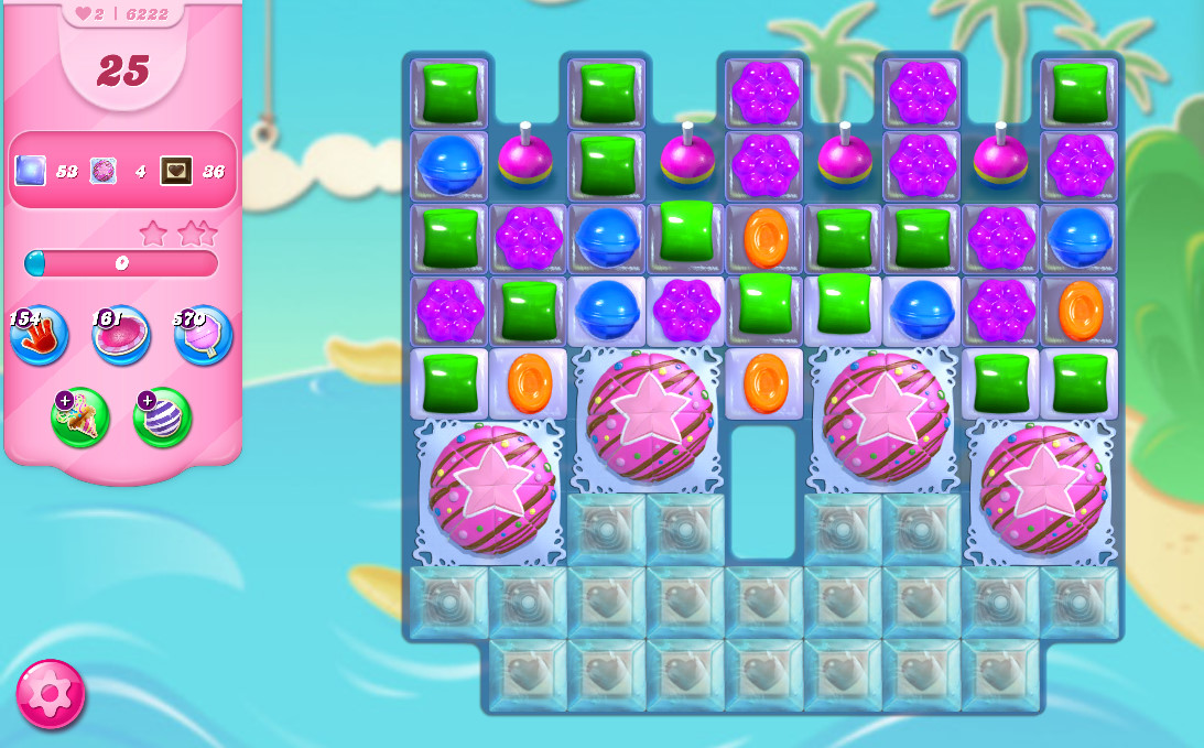 Candy Crush Saga level 6222