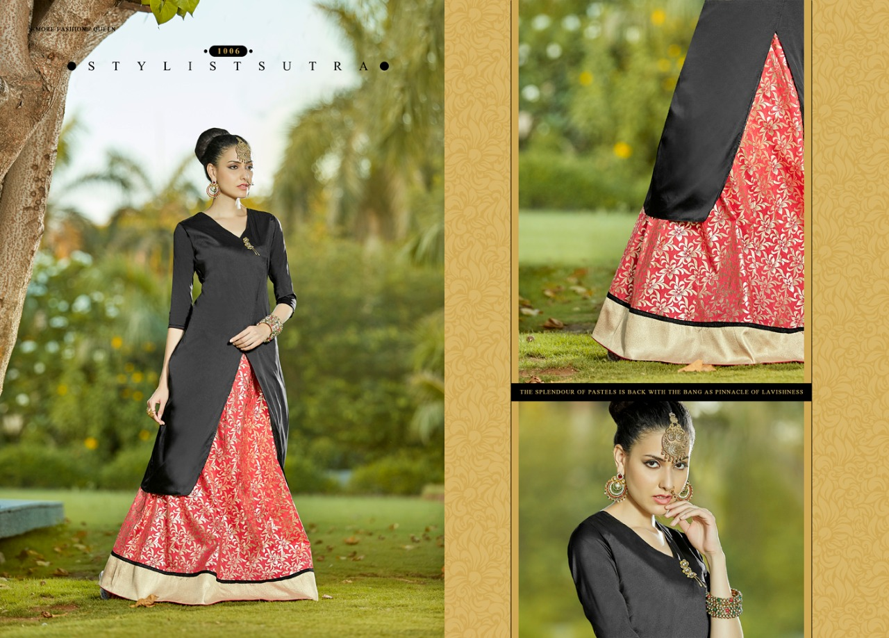 QUEEN-New Arrival Designer TAFETA Top With Lehenga