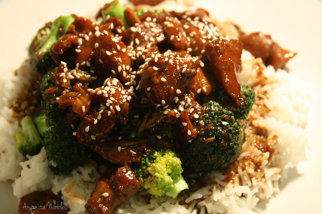 Chicken Teriyaki Finished with Sesame Seeds from www.anyonita-nibbles.com