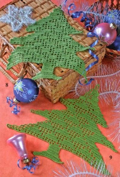 I Miei Lavori Alluncinetto Schemi Uncinetto Alberi Di Natale A Filet