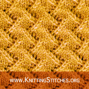 Knitting Stitch Patterns - Zig Zag Lace stitch in the round.