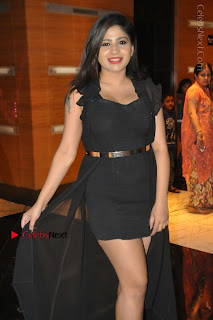 Telugu Actress Model Madhulagna Das Latest Spicy Stills in Black Short Dress  0030.JPG