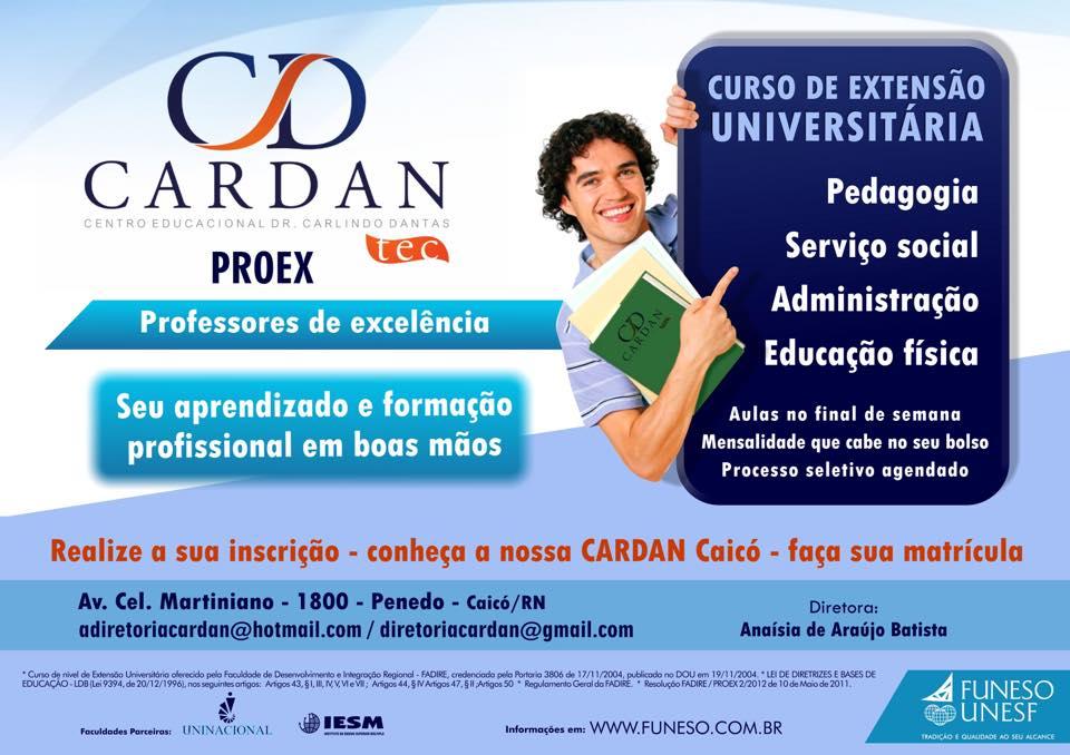 Resultado de imagem para Centro Educacional Dr. Carlindo Dantas Ltda – Cardan