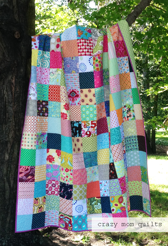 crazy mom quilts simple summer quilt complete