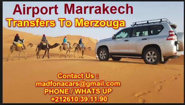 Transfers from Marrakech airport to Merzouga