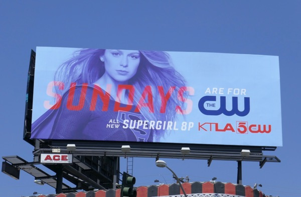 Supergirl Sundays season 4 billboard