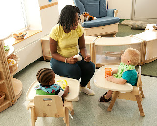 NAMC Montessori Infant Toddler furniture Mealtime Chairs from Community Playthings