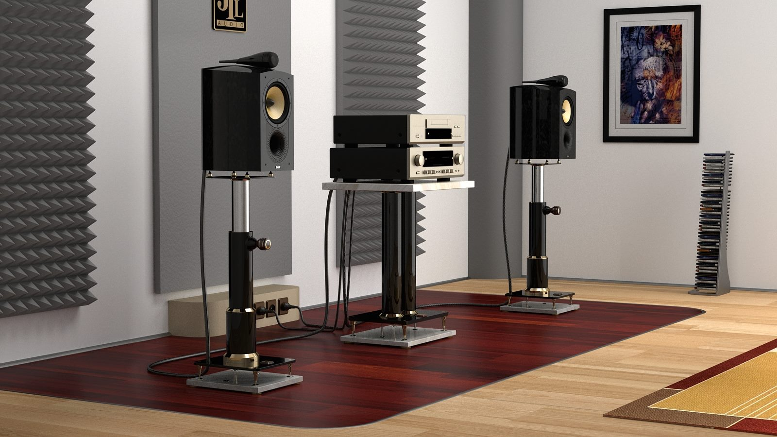mono and stereo high end audio magazine jtl audio luxury speaker stand and audio rack. Black Bedroom Furniture Sets. Home Design Ideas