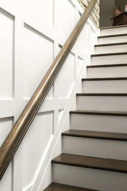 how to install board and batten stairway