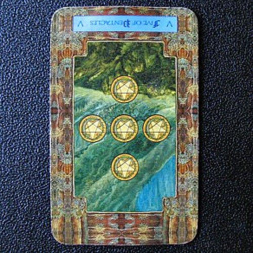 Reversed Five of Pentacles