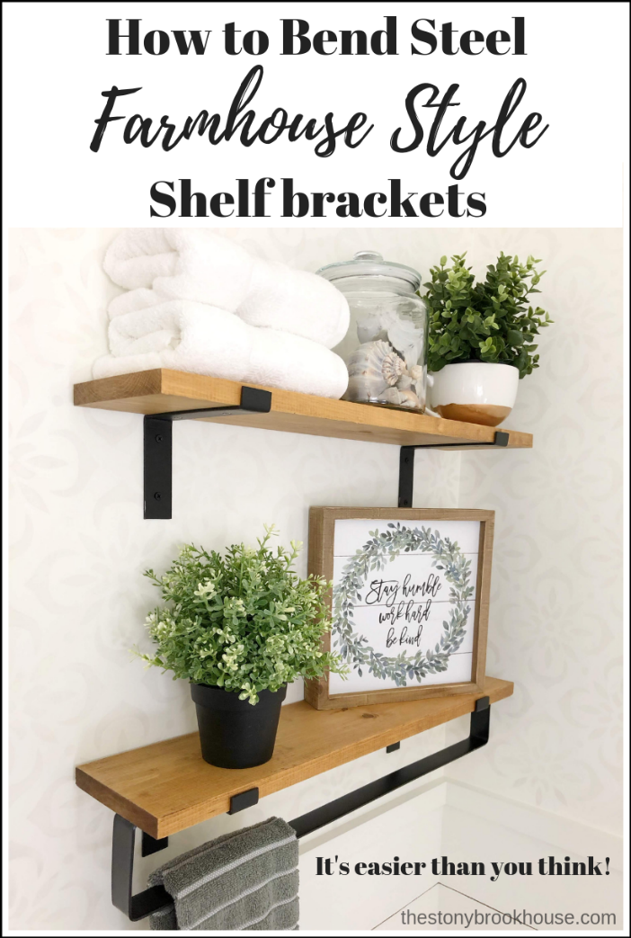 DIY Farmhouse Steel Shelf Brackets