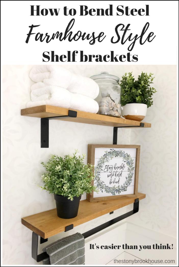 DIY Farmhouse Steel Shelf Brackets