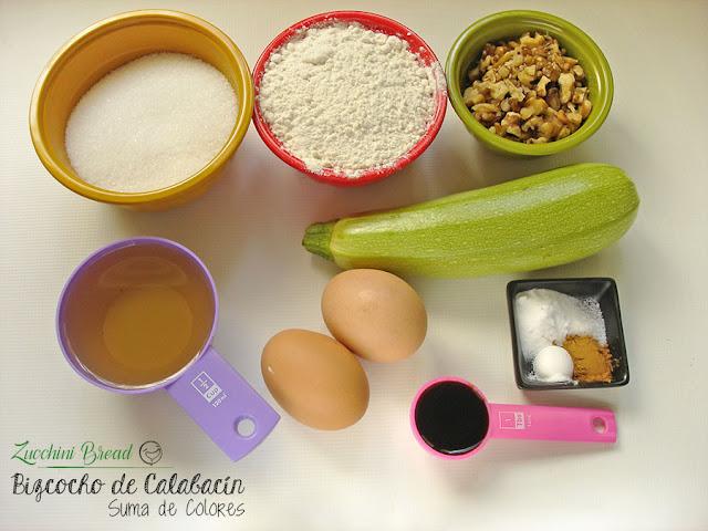 Bizcocho-Calabacín-Ingredientes