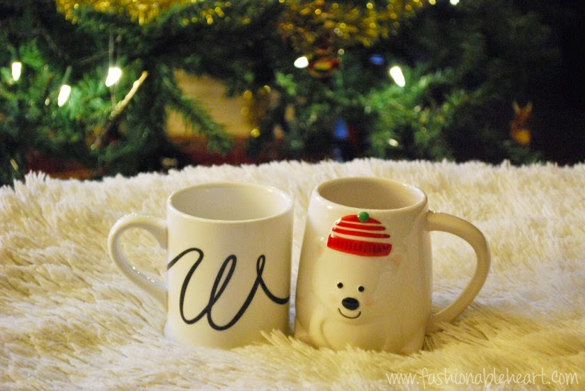 christmas gifts mugs monogram initial chapters homesense polar bear