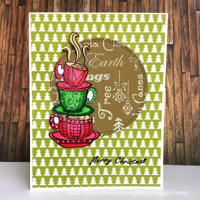 Coffee Christmas Cards.Just For Fun Rubber Stamps Christmas Cards With Poinsettias