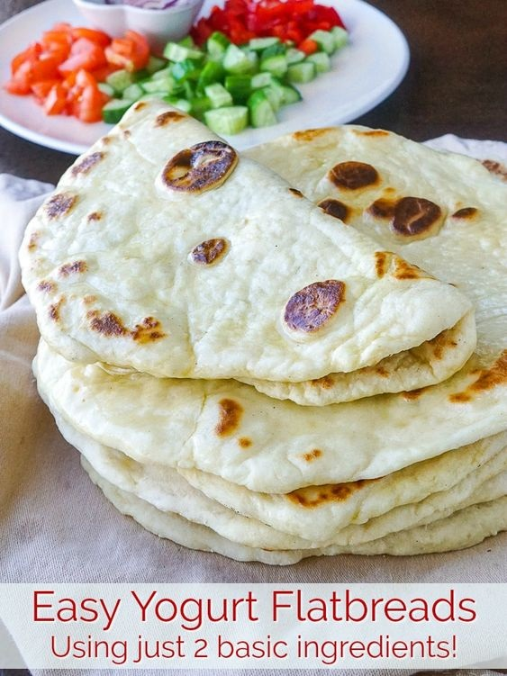 Yogurt Flatbreads. A Quick Easy Recipe With 2 Basic Ingredients