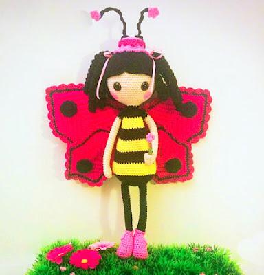 Amigurumi Crochet Butterfly Pattern