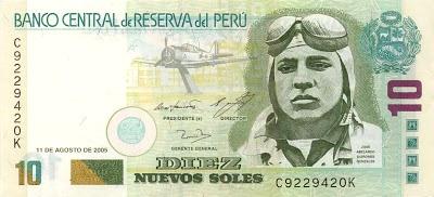 Foto del billete de José Abelardo Quiñones