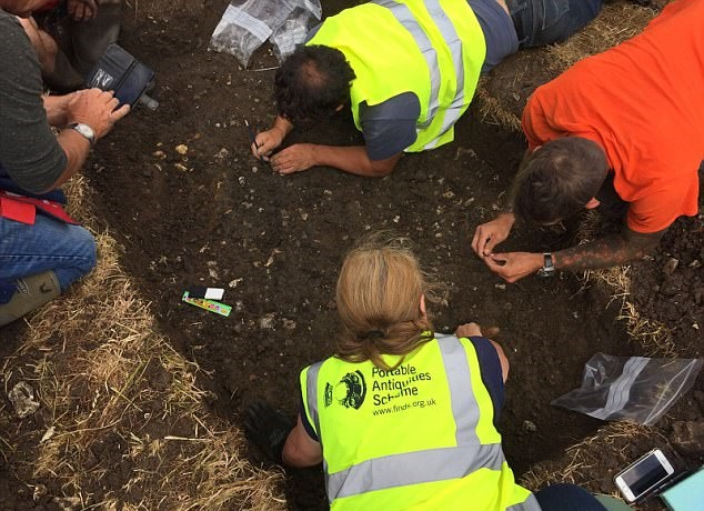 Detectorist discovers rare hoard of silver Roman coins