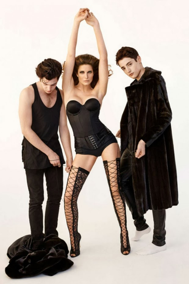 photos Stephanie Seymour with his sons