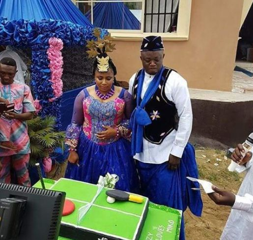 Image result for Checkout This Lovely Customized Cake Nigerian Tennis Player Used As Her Wedding Cake. (Photos)
