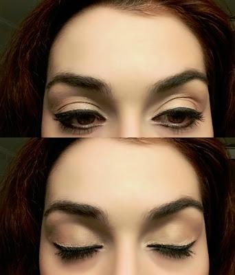 nude μακιγιάζ ματιών
