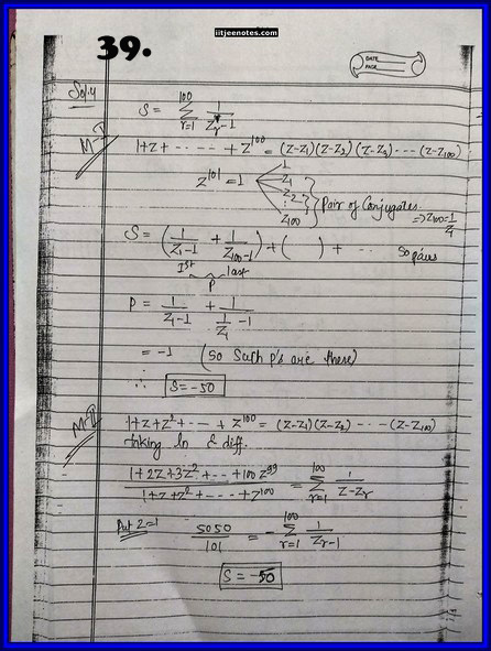 IITJEE Competition Notes On Complex Number 39