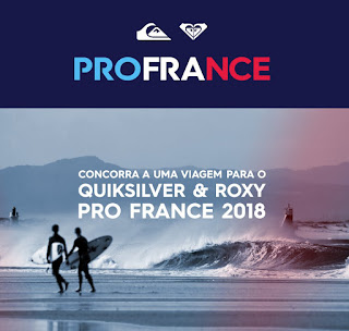 Promoção Quiksilver e Roxy Pro France 2018