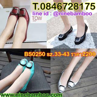 รองเท้าส้นแบนหนังแท้เพื่อสุขภาพแฟชั่นเกาหลีดีไซน์หัวเข็มขัดคริสตัลสี่เหลี่ยม ไซส์33-43 นำเข้า พรีออเดอร์BS0250 B2,200.00บาท