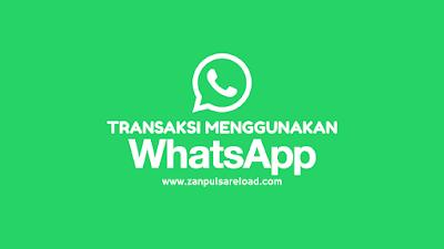 Transaksi Pulsa Menggunakan WhatsApp