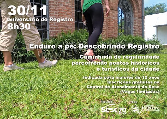 Enduro a Pé quer valorizar pontos turísticos e históricos de Registro-SP