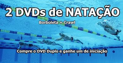 DVD Duplo de Natação com o de iniciação de brinde