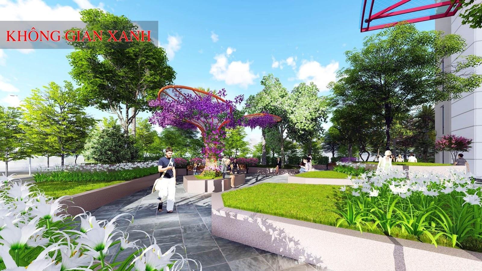 Không gian xanh chung cư 360 Giải Phóng