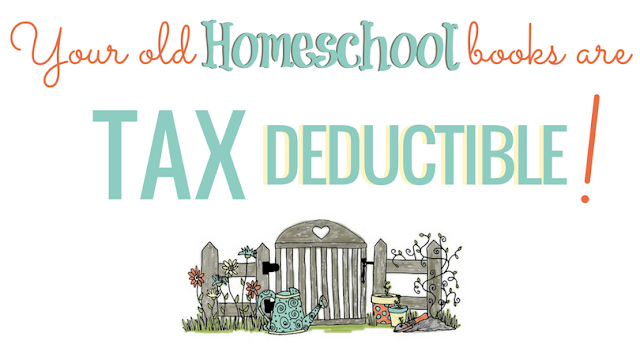 Tax Deductible Receipts Donate old used homeschool books and curriculum to Homeschool Curriculum Free for Shipping