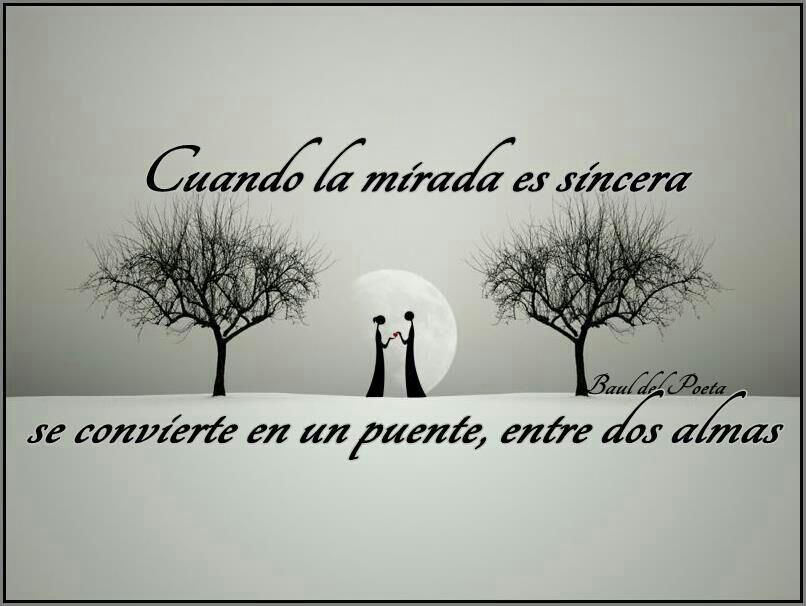 Frases Con Imágenes Cuando La Mirada Es Sincera Se