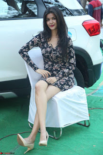 Kritika Telugu cinema Model in Short Flower Print Dress 002.JPG