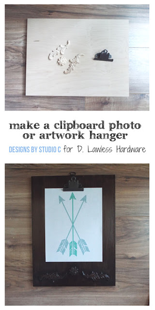 make a decorative clipboard - pin