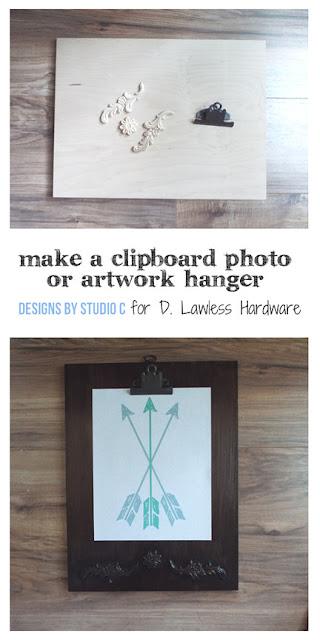 make a decorative clipboard - pin