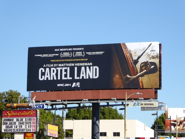 Cartel Land documentary film billboard