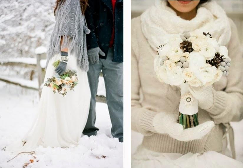 ideas originales para bodas de invierno lana