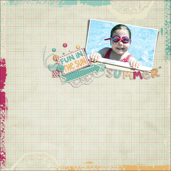 fun in the sun © sylvia • sro 2016 • summer lovin' • simple girl scrap