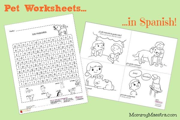 mommy maestra free spanish printables on pets. Black Bedroom Furniture Sets. Home Design Ideas