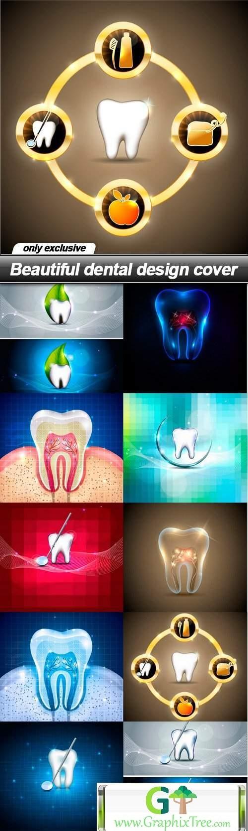 Beautiful dental design cover - 10 EPS