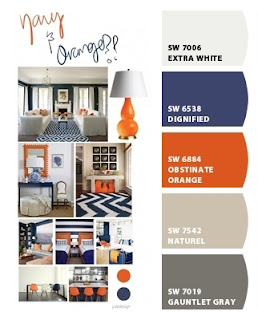 Sherwin-Williams Navy and Orange