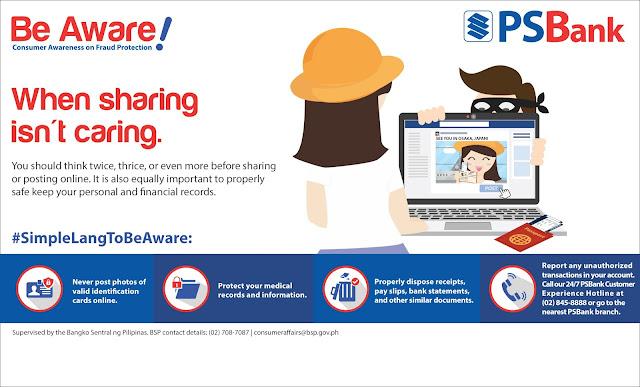 PSBank, online banking reminder, digital world scam, online banking, tips to prevent scammer