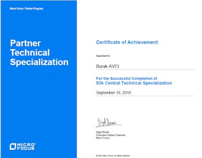 Test Otomasyon Sertifikaları - Micro Focus Silk Test Certifications