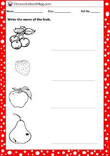 fruit worksheets