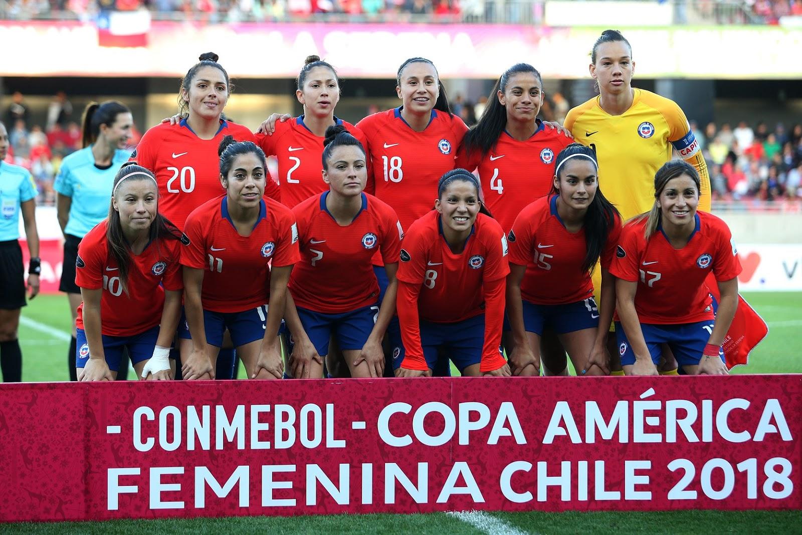 Formación de selección de Chile ante Perú, Copa América Femenina 2018, 12 de abril